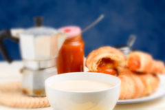 Coffee and milk - selective focus Royalty Free Stock Image
