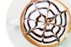 Coffee milk foam cup Stock Photos