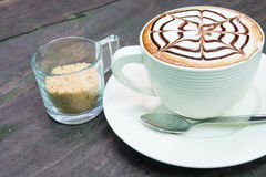 Coffee milk foam cup Stock Image