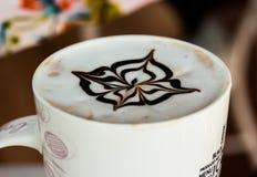 Coffee with milk pattern Fotografering för Bildbyråer