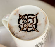 Coffee with milk pattern Royaltyfri Bild