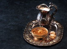Coffee with milk and sugar Stock Images