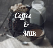 Coffee and milk Stock Images