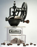 Coffee-Mill. A Coffee Mill with some coffee-bean Stock Photo
