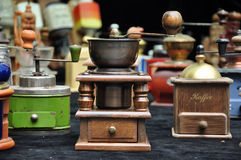 Coffee Mill. Photo of coffee mills on table stock images