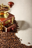 Coffee Mill And Coffee Beans Royalty Free Stock Image