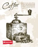 Coffee mill background Royalty Free Stock Image