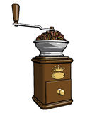 Coffee mill 2 Royalty Free Stock Images