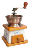Coffee-mill closed isolated Royalty Free Stock Photo