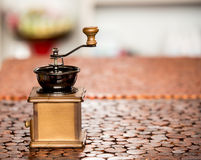 Coffee mill grinder Royalty Free Stock Photo