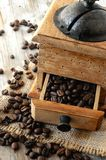 Coffee mill for molturation of coffee process elaboration Royalty Free Stock Photo
