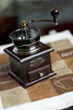 Coffee mill on the table Royalty Free Stock Image