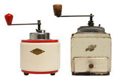 Coffee-Mills. Two historical coffee mills. Objects are isolated Stock Photo
