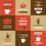 Coffee mini poster set Royalty Free Stock Photography