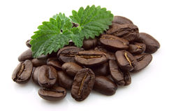 Coffee and mint Stock Photo