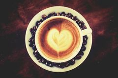Coffee Mocha Coffee Time to eat. Stock Photo