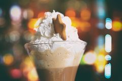 Coffee mocha. Sweet drink mochaccino royalty free stock image