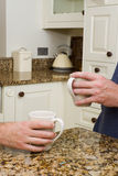 Coffee in modern kitchen Stock Photo