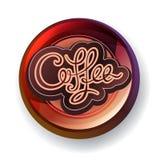 Coffee modern label. Coffee handwritten calligraphic modern label Royalty Free Stock Photography