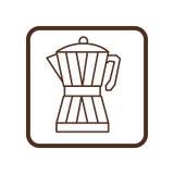 Coffee moka pot icon Stock Photography