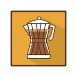 Coffee moka pot icon Royalty Free Stock Image