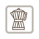 Coffee moka pot icon Stock Photos