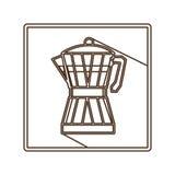 Coffee moka pot icon Stock Image