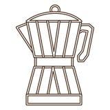 Coffee moka pot icon Royalty Free Stock Photo