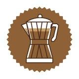 Coffee moka pot icon Royalty Free Stock Images