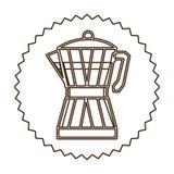 Coffee moka pot icon Royalty Free Stock Photography