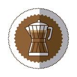 Coffee moka pot icon Stock Images
