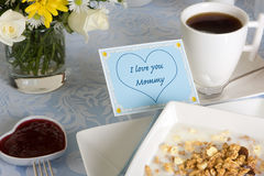 Coffee for mommy Stock Photos