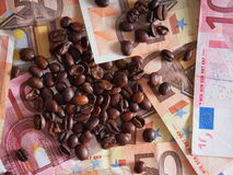 Coffee money Royalty Free Stock Photo