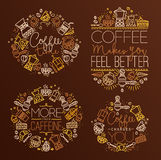 Coffee monograms Stock Images