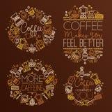 Coffee monograms Stock Images