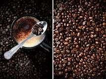 Coffee Montage Stock Photography