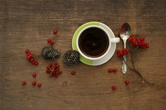 Coffee morning with berries Stock Image