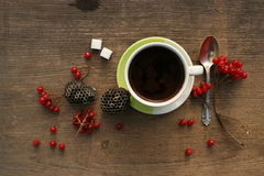 Coffee morning with berries Royalty Free Stock Photography