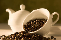 Coffee in the morning. (morning light /sunrise Stock Photo