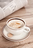 Coffee and morning newspaper Royalty Free Stock Photo