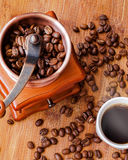 Coffee. Morning coffee on the wood table Royalty Free Stock Photo