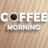 Coffee morning on wood Stock Images