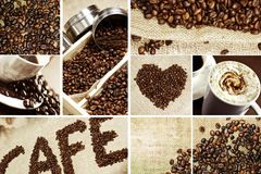 Coffee Mosaic Royalty Free Stock Photography