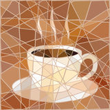 Coffee mosaic Stock Image
