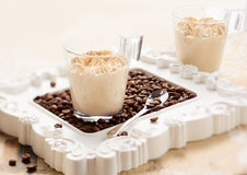 Coffee mousse Royalty Free Stock Images