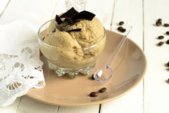 Coffee mousse with chocolate chips Stock Image