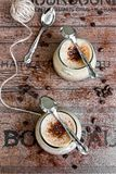 Coffee mousse in glasses Royalty Free Stock Photo