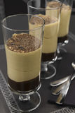 Coffee mousse. Restaurant coffee and chocolate mousse Royalty Free Stock Image