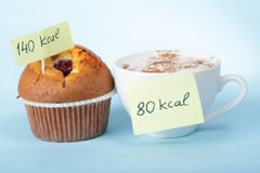 Coffee and muffin royalty free stock images