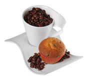 Coffee and muffin Royalty Free Stock Photo